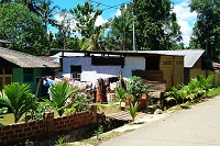 Little House with laundry in the garden in Sorong