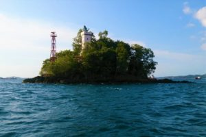 Lighthouse in front of Sorong harbour